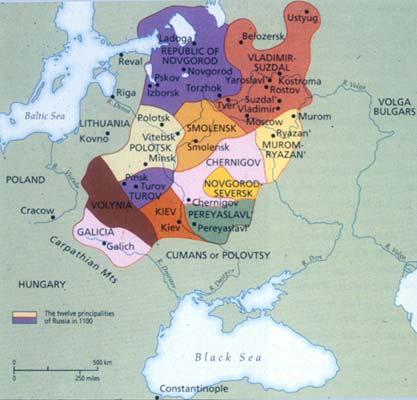 Russian principalities under Golden Horde map