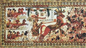 pharaoh-tutankhamun-riding-a-chariot